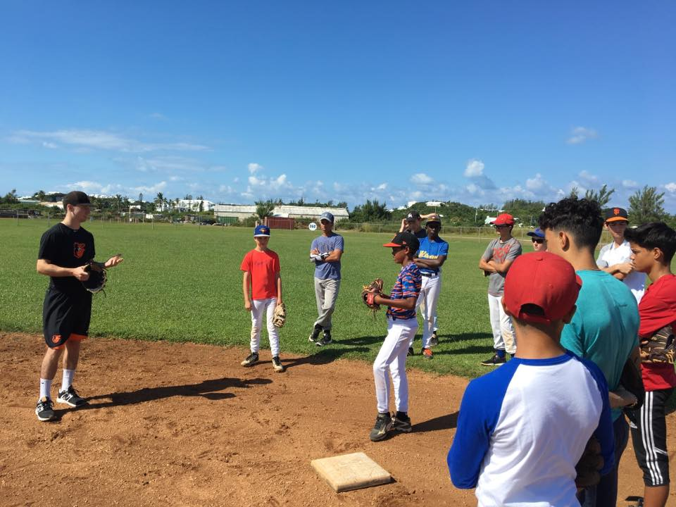 Adam Hall with Bermuda 12-15 year olds - 2017