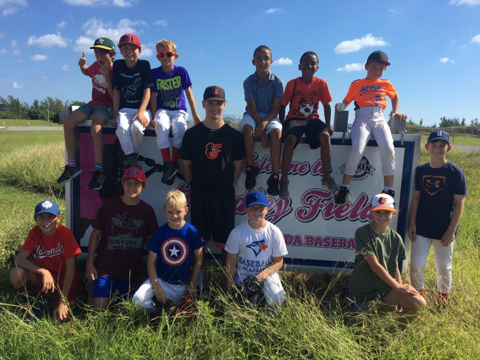 Adam Hall with Bermuda up and comers - October 2017